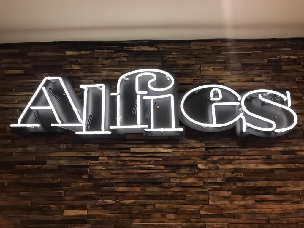 Alfies neon sign BL