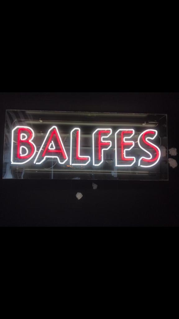 Balfes Neon Logo Sign 3d Effect
