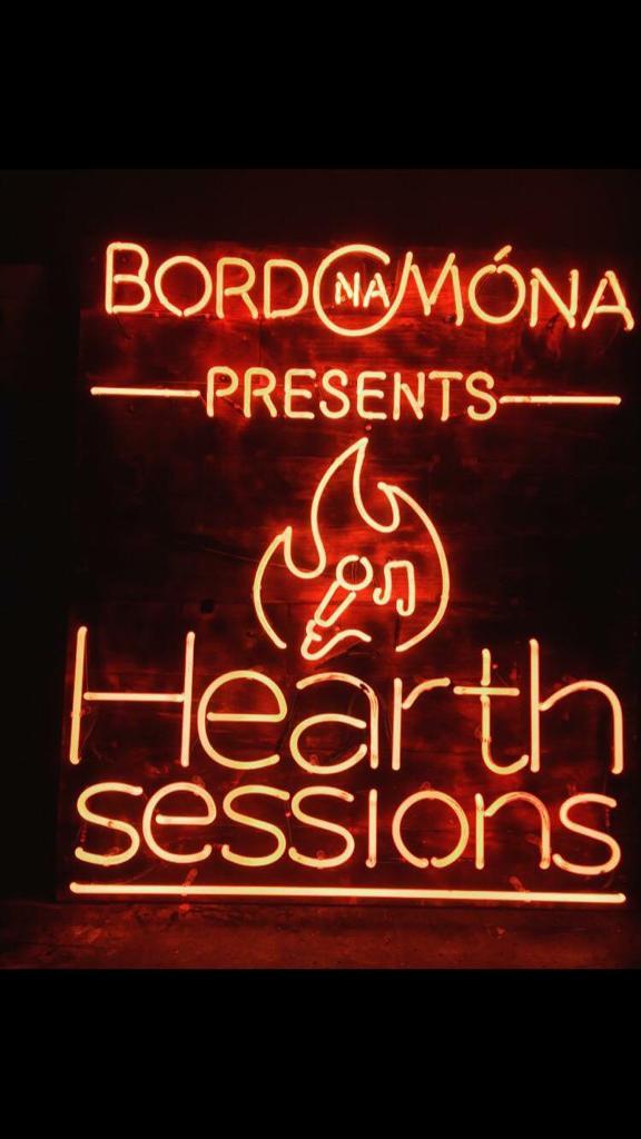 Neon Sign for Bord na Mona Hearth Sessions music event