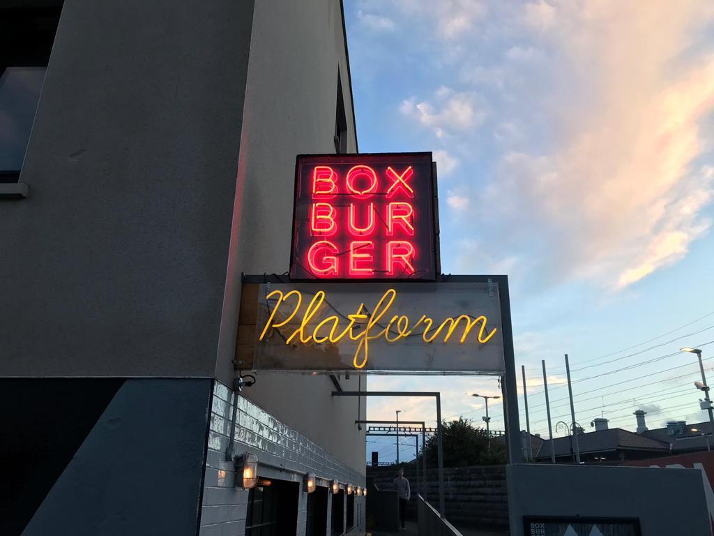 Box Burger Platform Neon Sign BL Neon Ireland