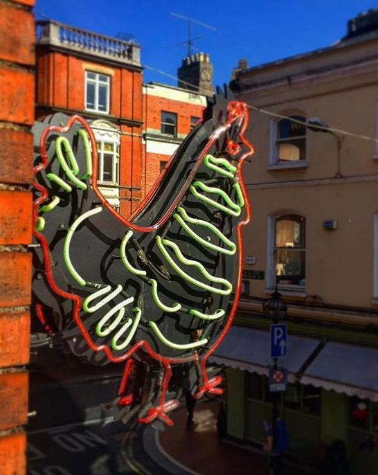 Chicken Outdoor neon sign for shopfront made by BL Neon
