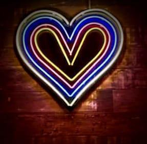 Heart Neon sign using multiple tubes