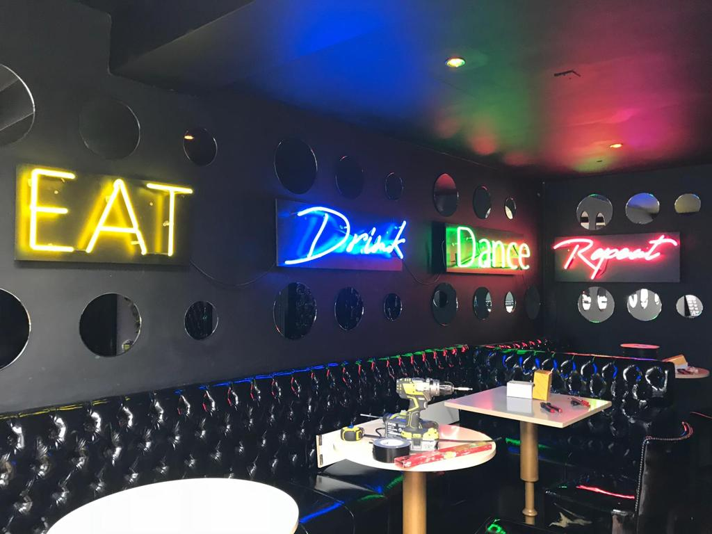Eat Drink Dance Neon Signs different colours