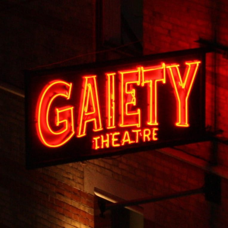 gaiety neon sign