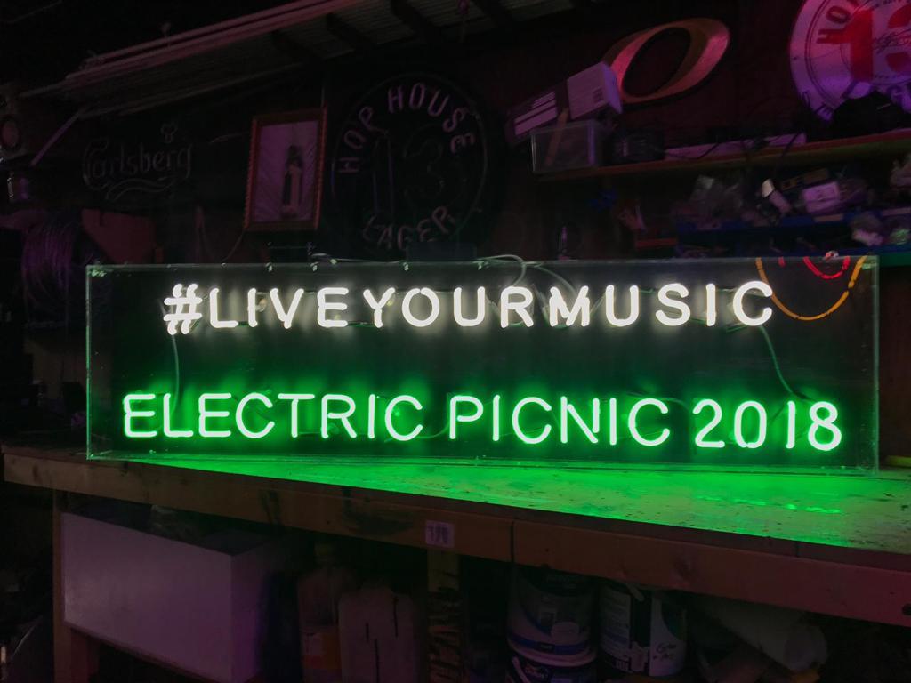 Heineken neon sign for Electric Picnic 2018