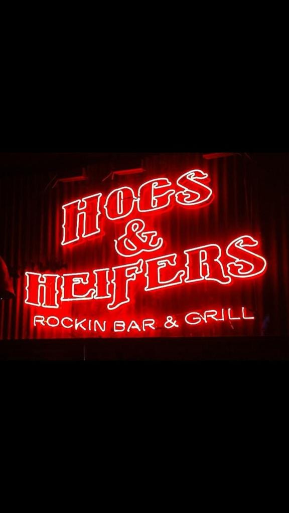 Hoes and Heifers Rockin Bar and Grill Neon SignCustom Design Pink