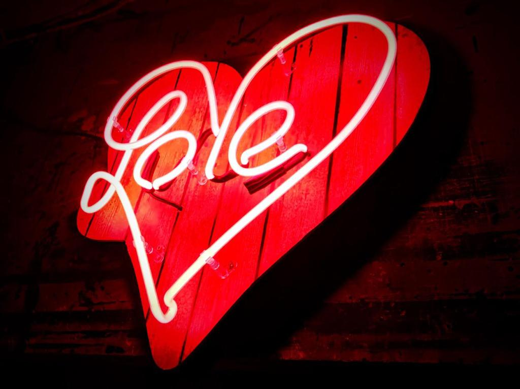 Love Neon Sign custom design with a heart