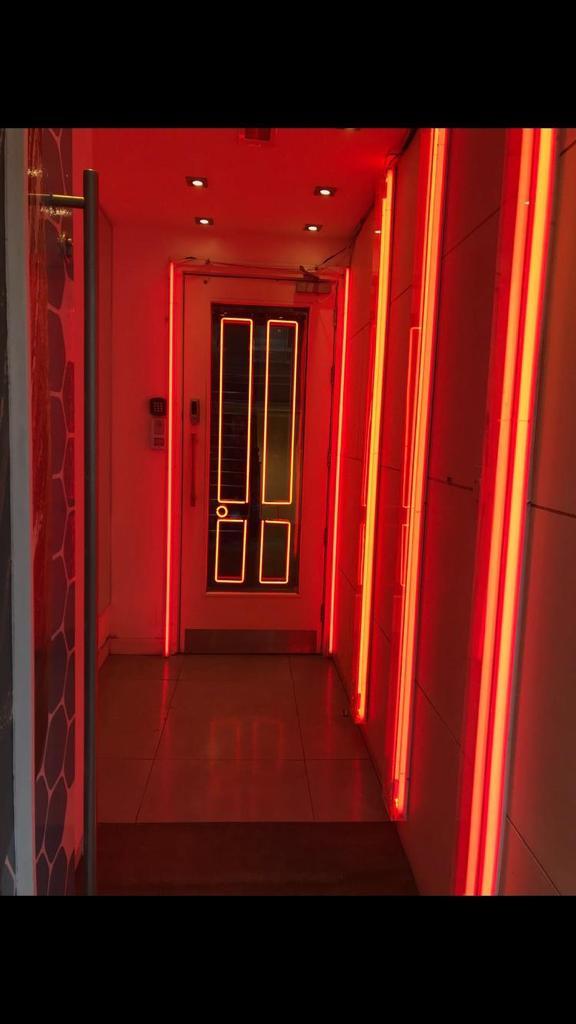 hallway red neon lighting bl neon signs