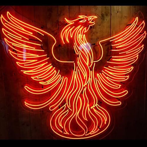 Teelings Phoenix Neon Sign