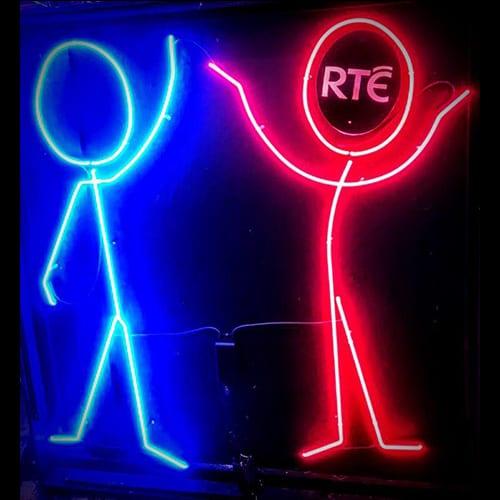 Neon lights stick man designs for RTE