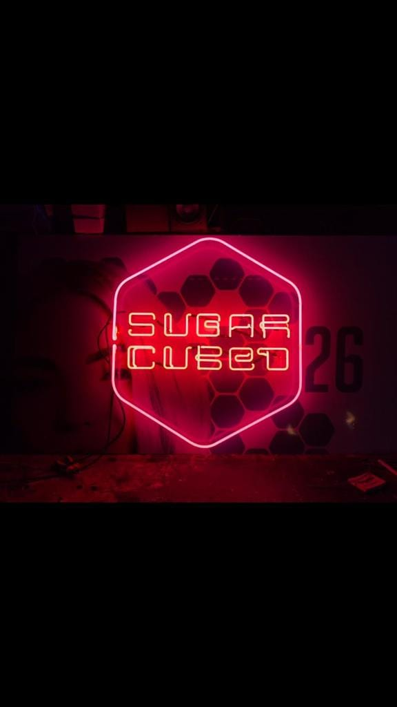 Sugar Cubed Logo Neon