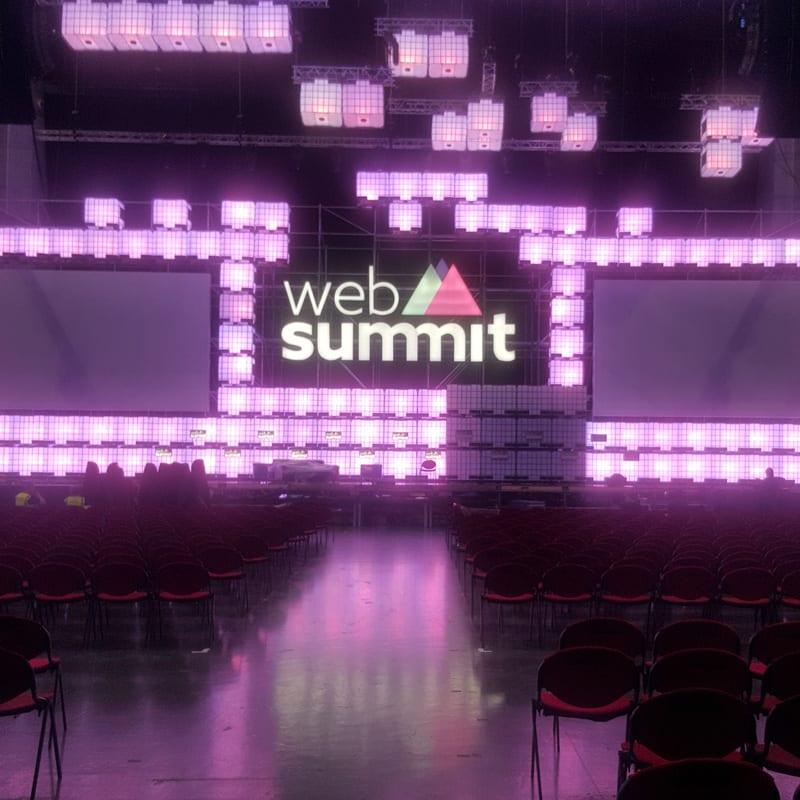 Web Summit Purple Neon Signage LED